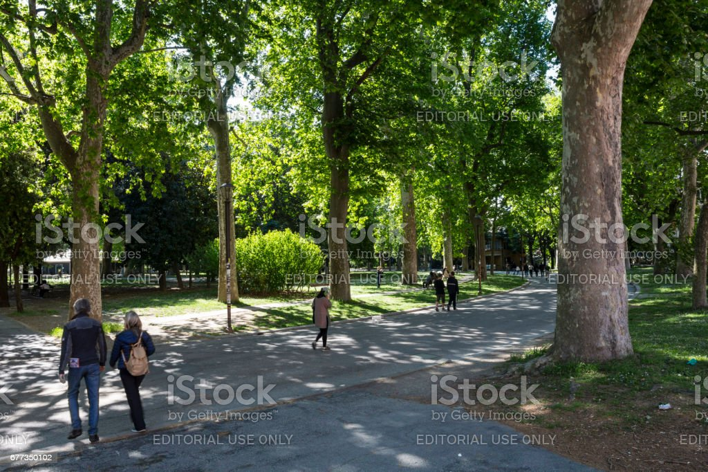 Montagnola Park in Bologna stock photo