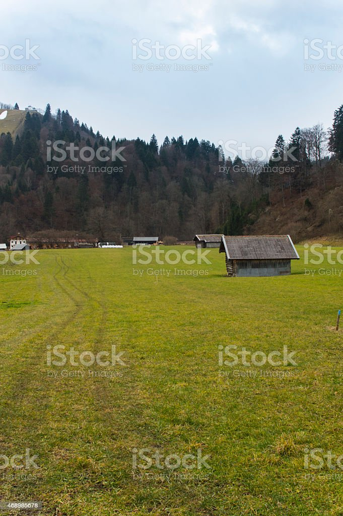 Montain Fields stock photo
