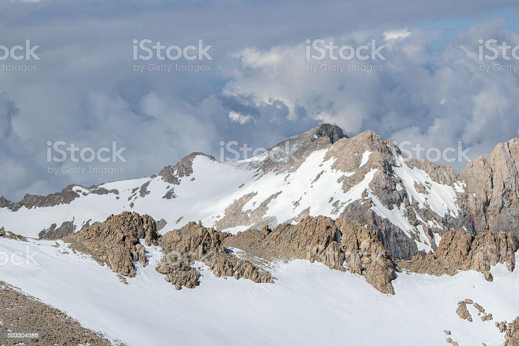Montain summit ridge stock photo