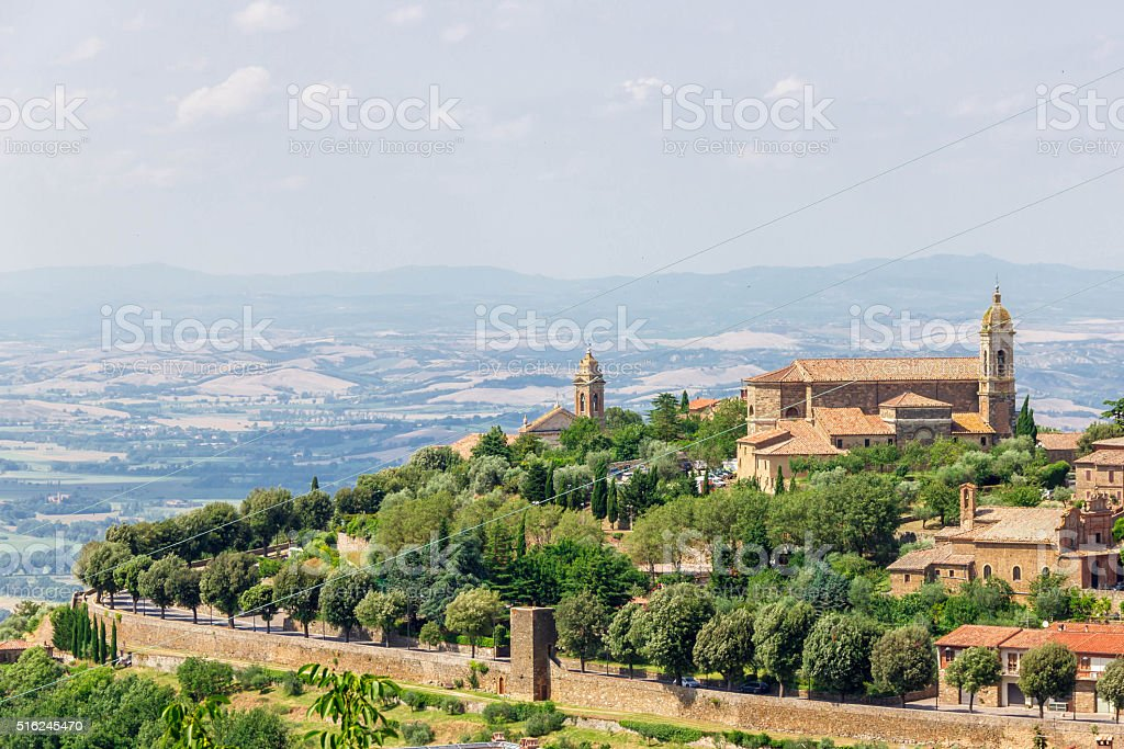Montalcino city Tuscany Italy stock photo