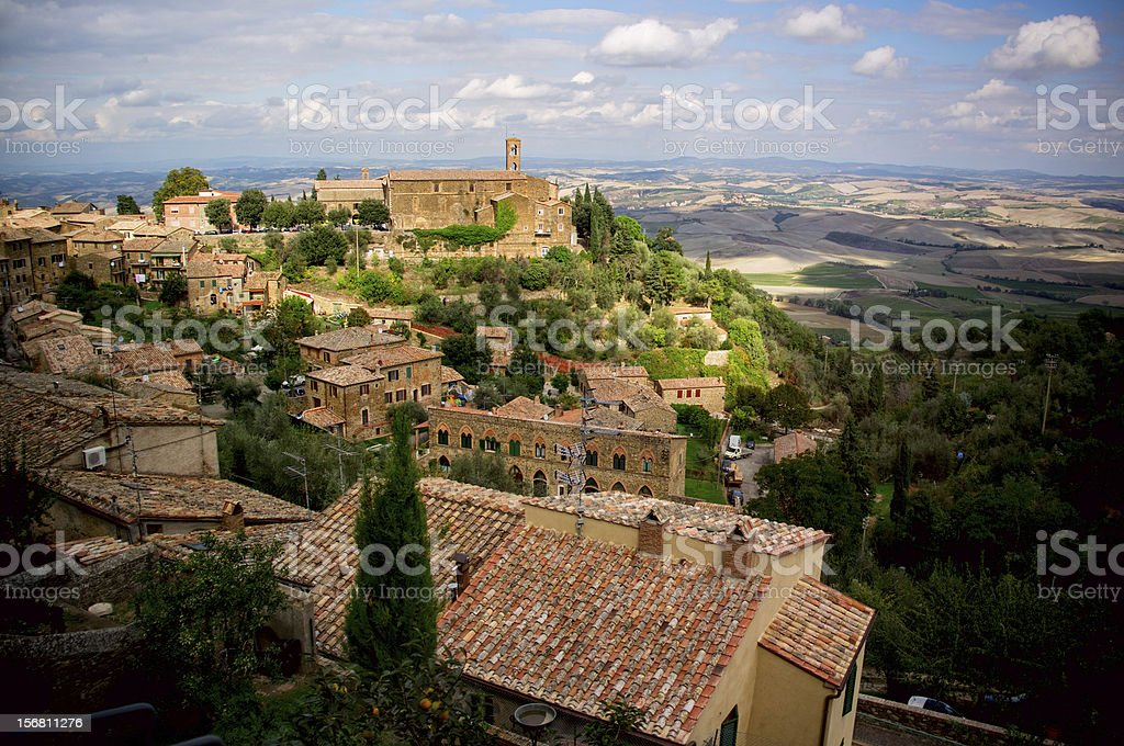 Montalcino town. Italy stock photo
