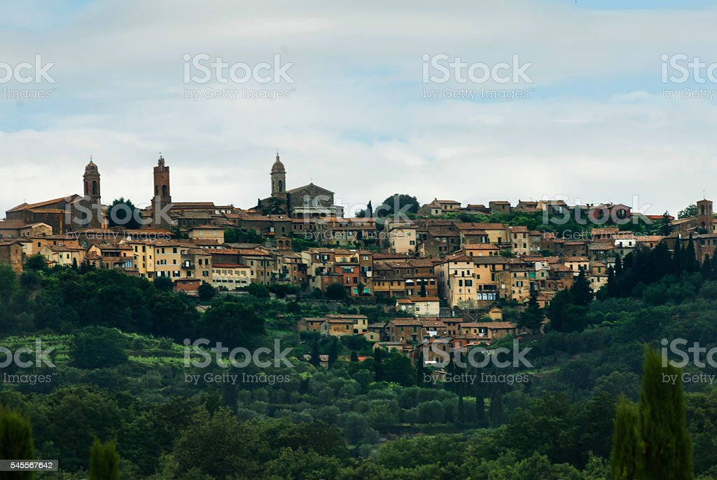 Montalcino. Tuscany, Italy stock photo