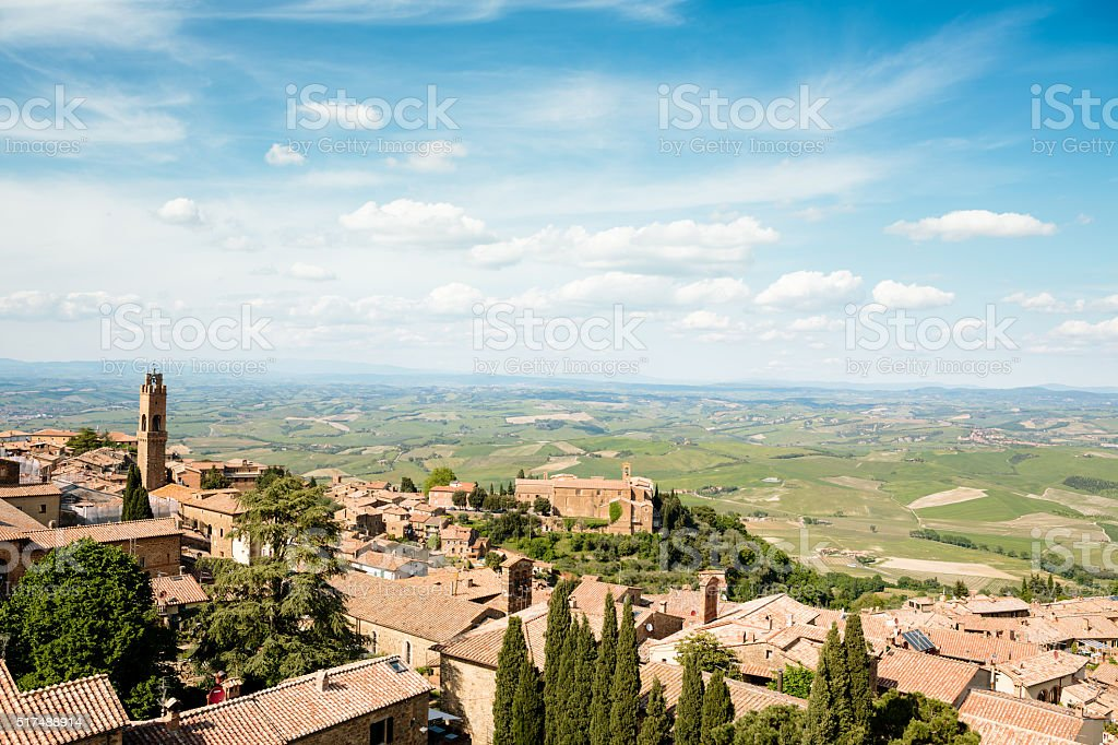 Montalcino Village stock photo