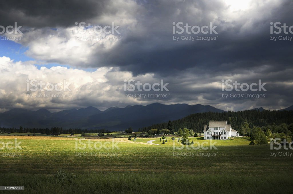 Montana Big Sky royalty-free stock photo