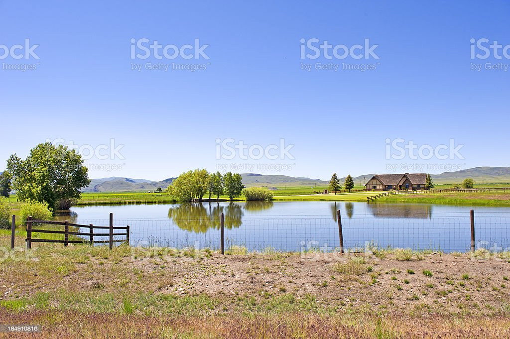 Montana Country Home stock photo