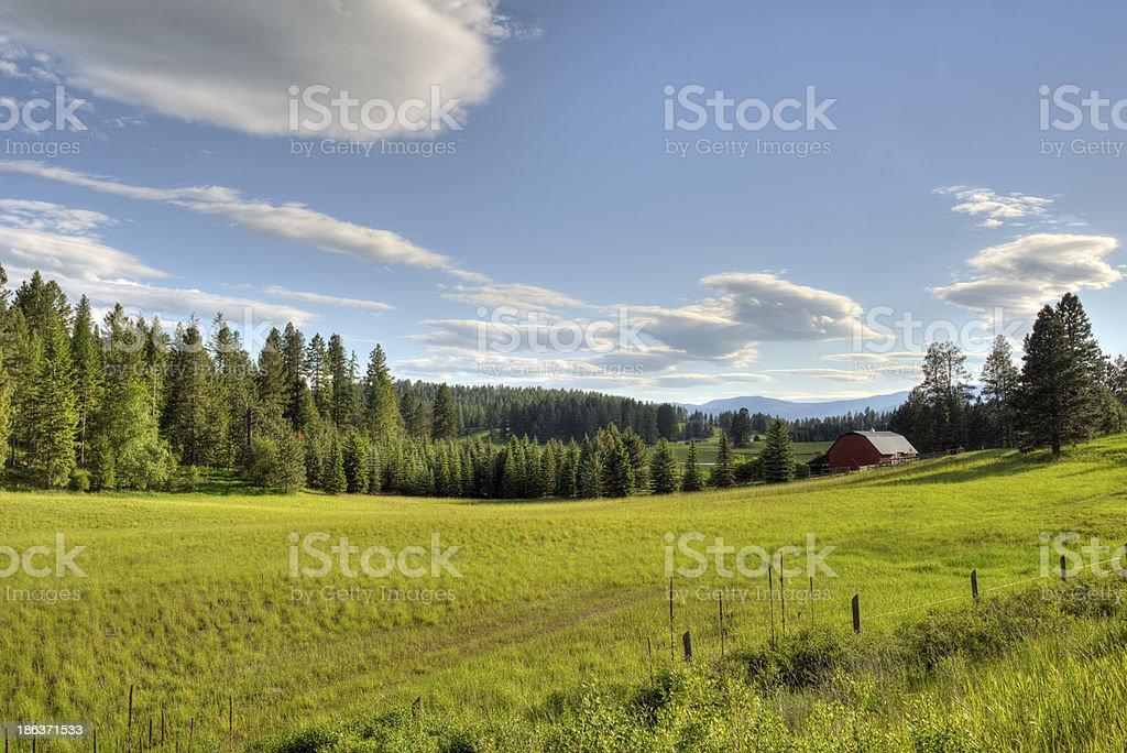 Montana farmland stock photo