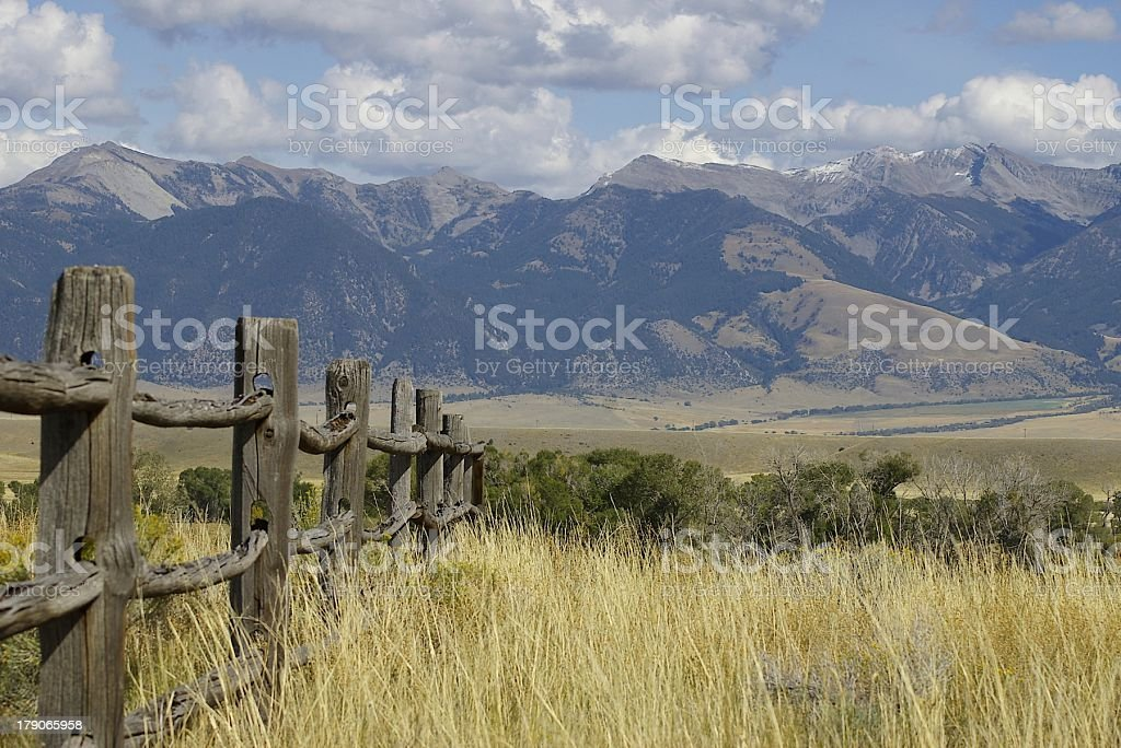Montana Fenceline stock photo