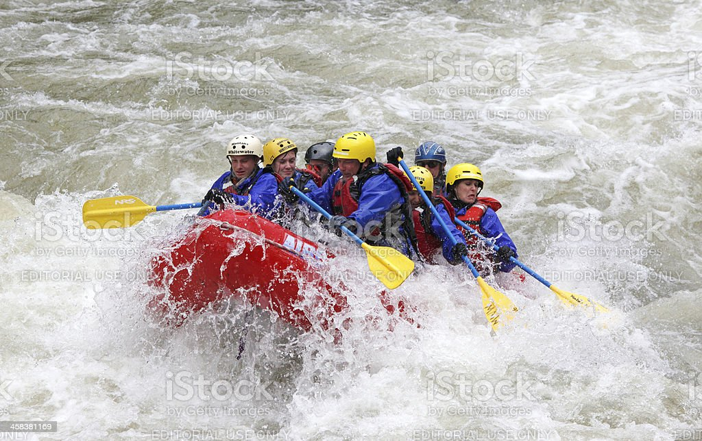 Montana Gallatin Whitewater. royalty-free stock photo