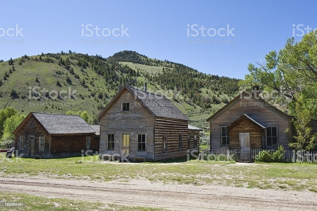 Montana Ghost Town stock photo