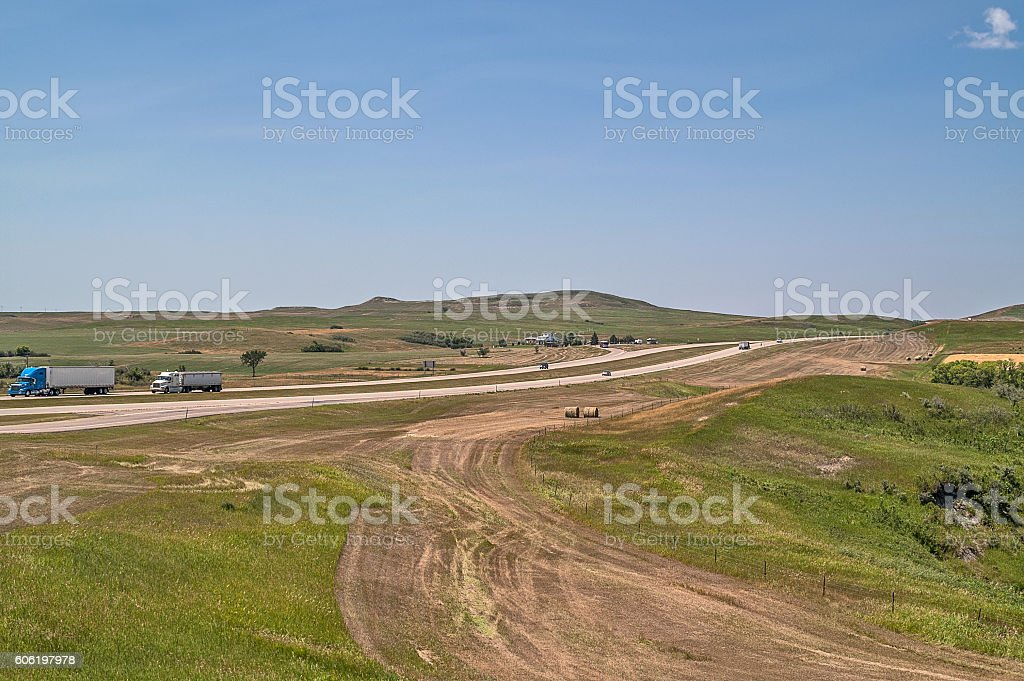 Montana Interstate stock photo