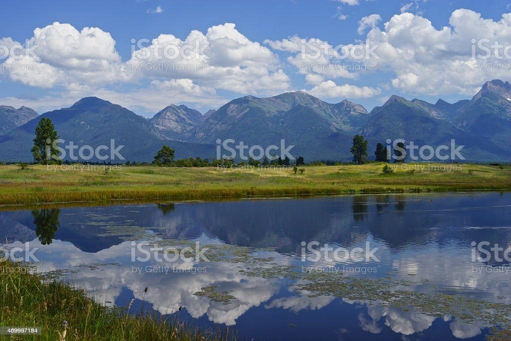 Montana Mission Mirror stock photo
