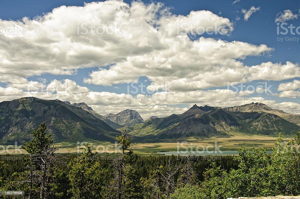 Montana Mountains stock photo