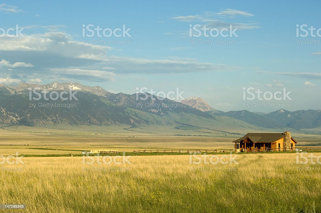 Montana ranch stock photo
