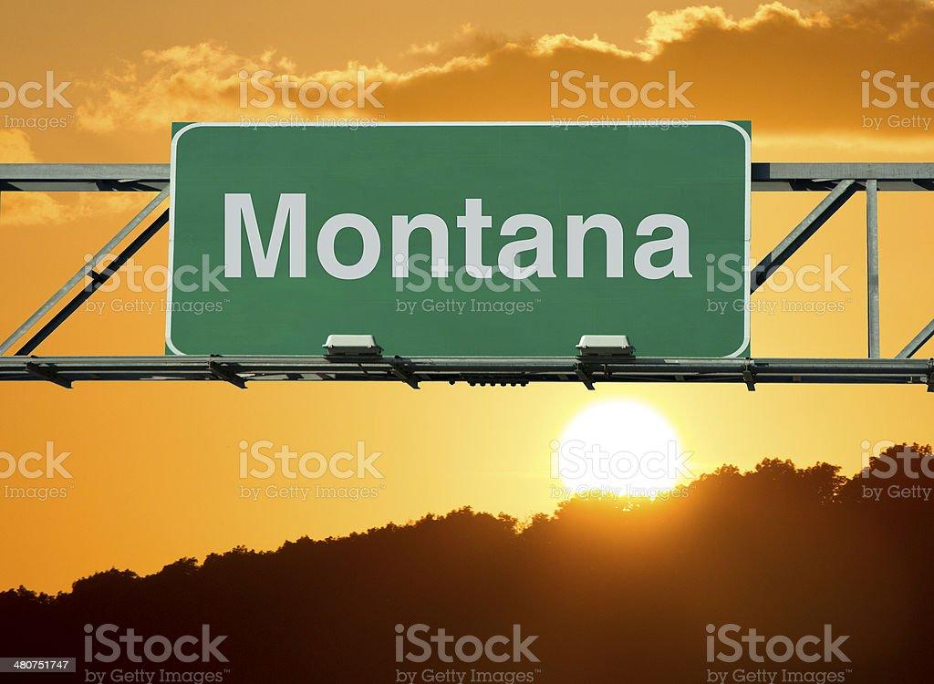 Montana Sign royalty-free stock photo