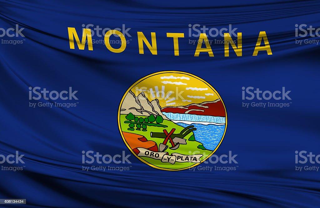 Montana State Flag stock photo