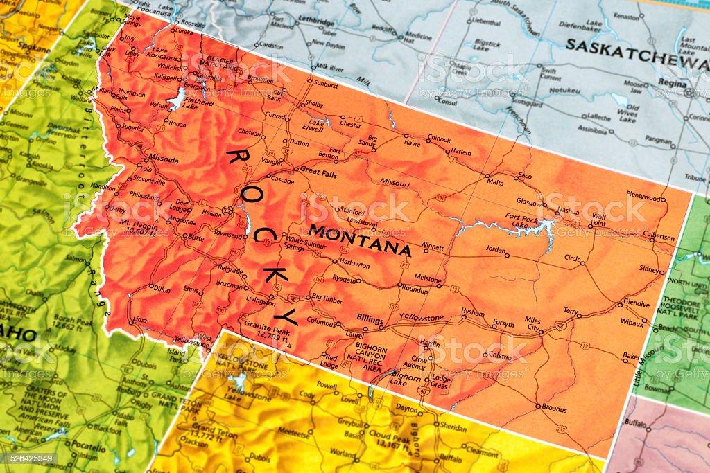 Montana State stock photo