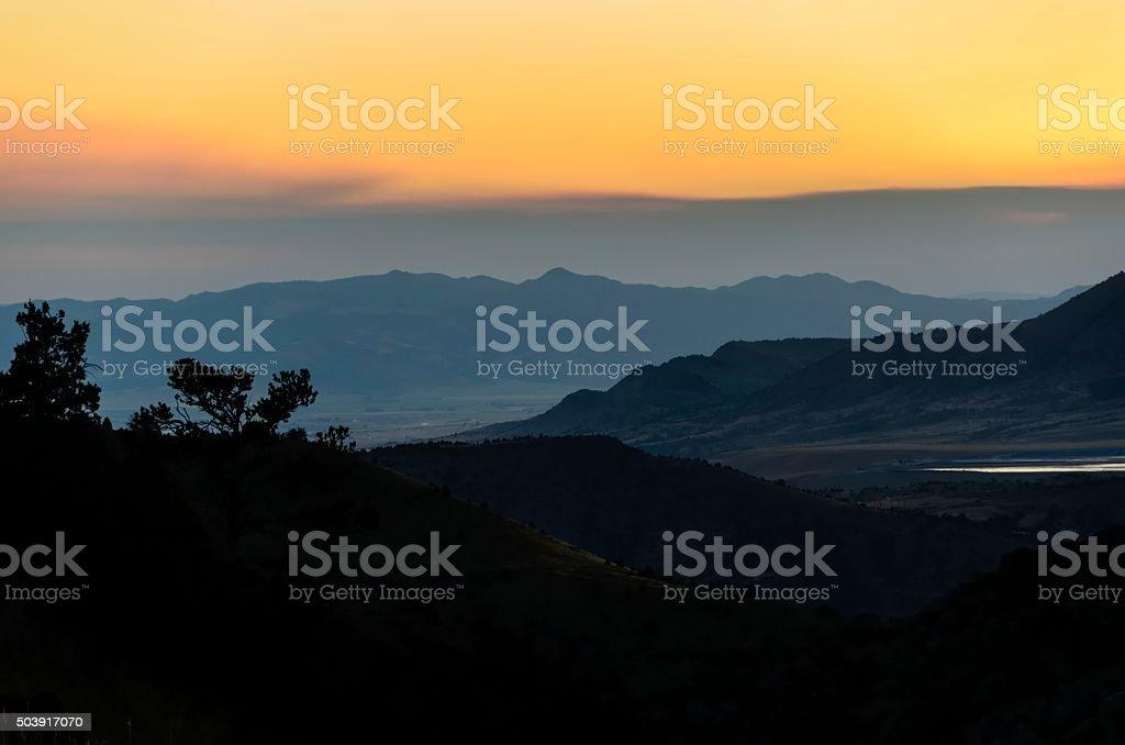 Montana Sunset stock photo