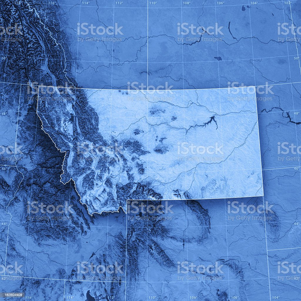 Montana Topographic Map stock photo