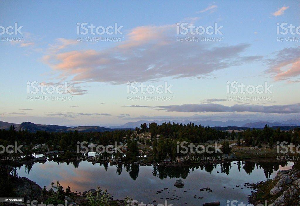 Montana Wild High Lake stock photo