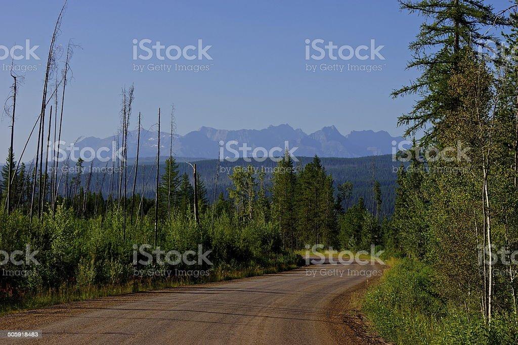 NW Montana Wild Road stock photo