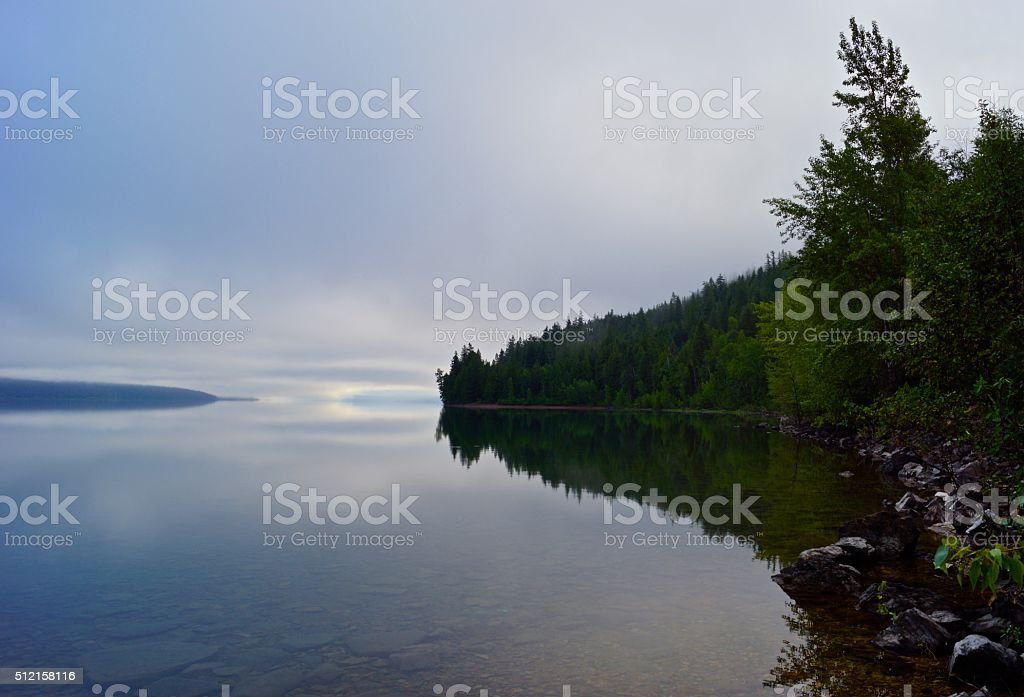 Montana's Lake McDonald stock photo