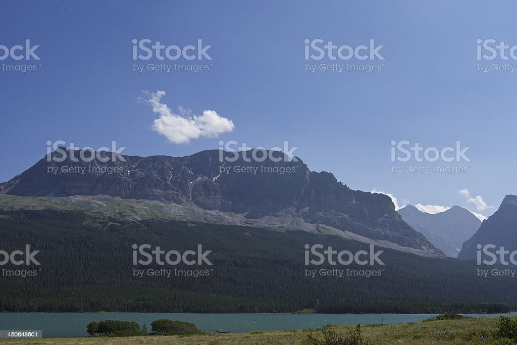 Montana's Lake Sherburne stock photo