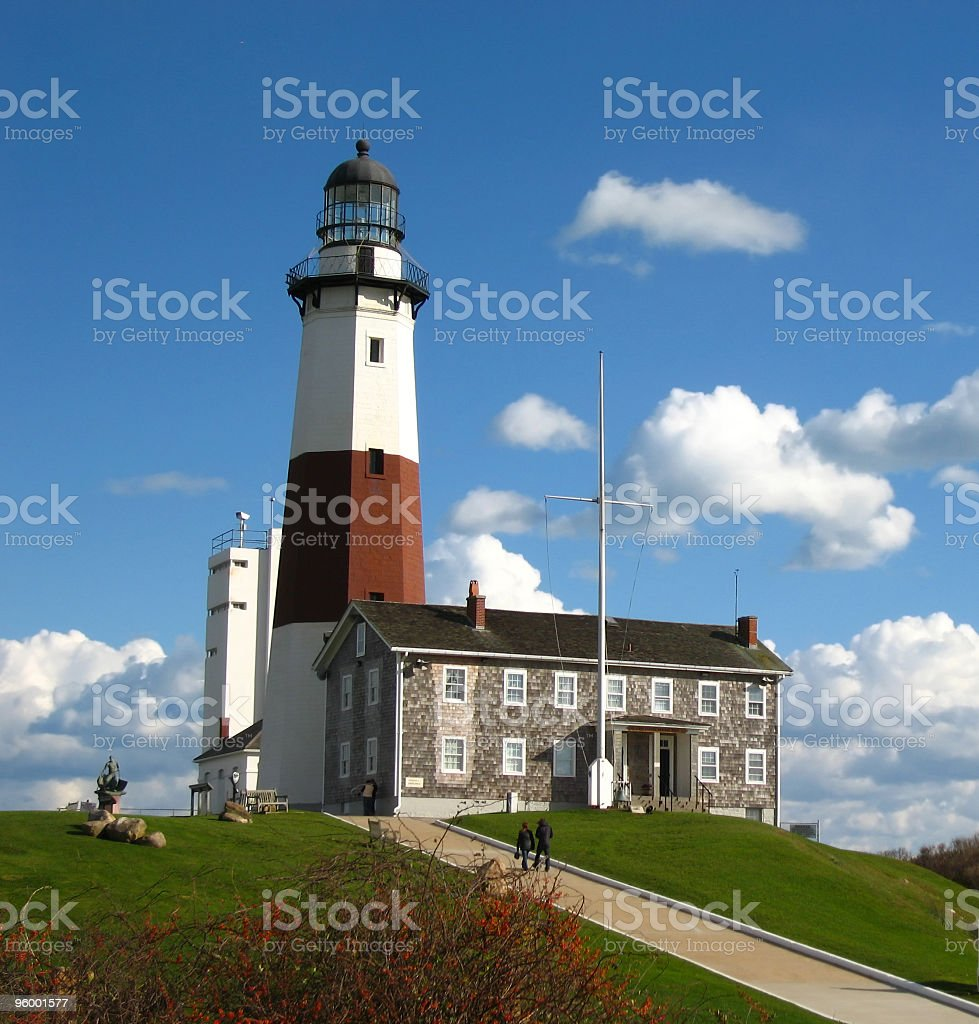 Montauk Point Lighthouse on a Perfect Day royalty-free stock photo
