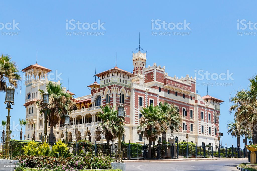Montaza Palace in Alexandria, Egypt. stock photo