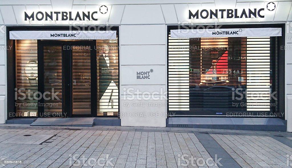 Montblanc store stock photo