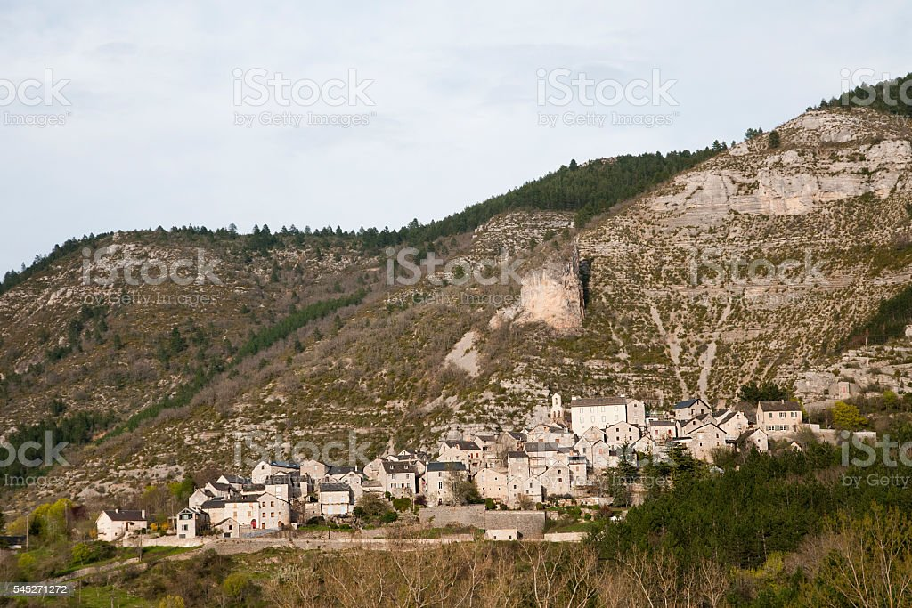 Montbrun's village stock photo