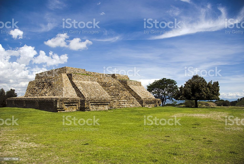 Monte Alban, Oaxaca, Mexico stock photo