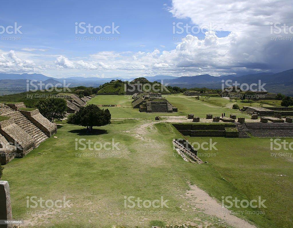 Monte Alban Oaxaca stock photo