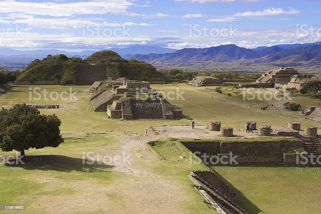 Monte Alban stock photo