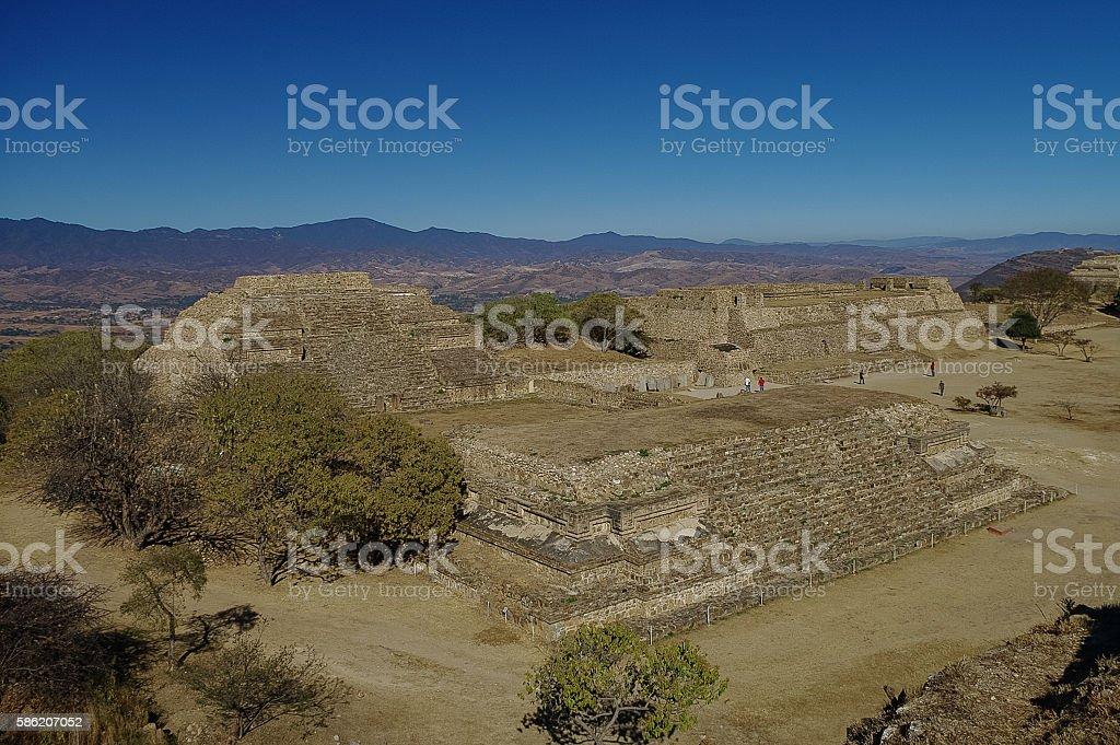 Monte Alban - the ruins of the Zapotec civilization stock photo