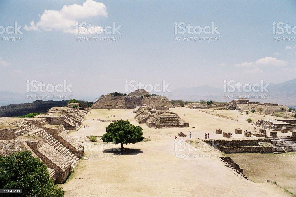 Monte Alban's Temples stock photo