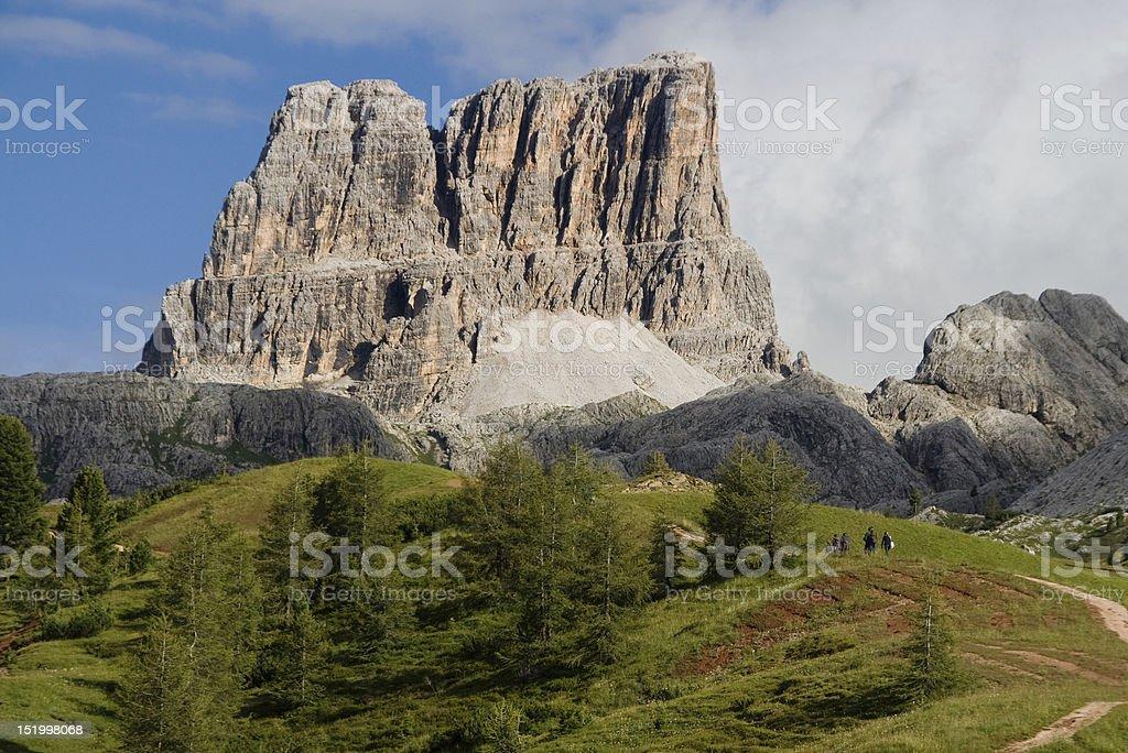 Monte Averau stock photo