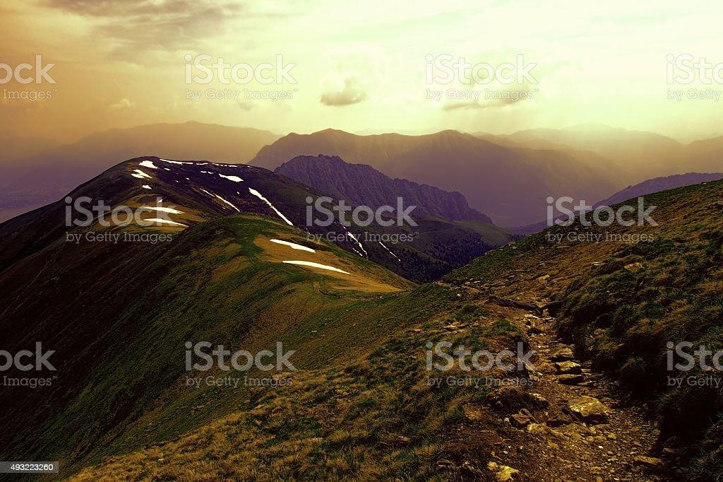 Monte Bregagno, Italy stock photo