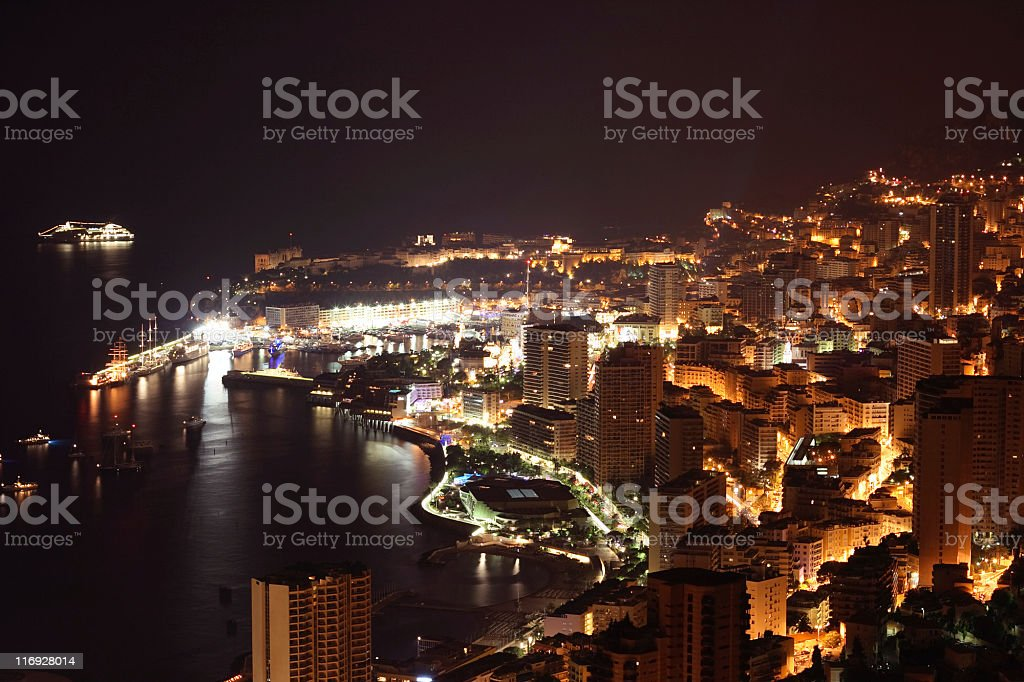 Monte Carlo By Night royalty-free stock photo