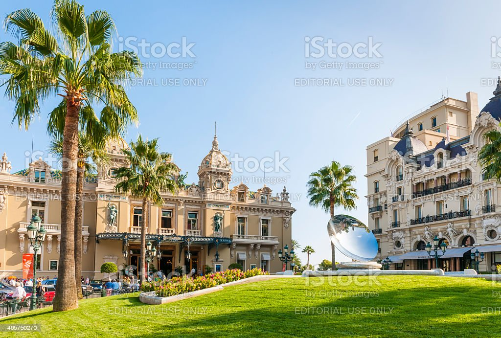 Monte Carlo Casino and Hotel de Paris in Monaco stock photo