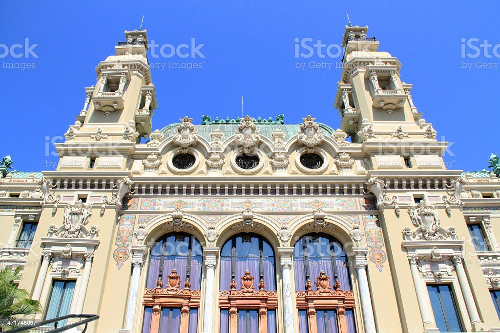 Monte Carlo Casino and Opera, Monaco royalty-free stock photo