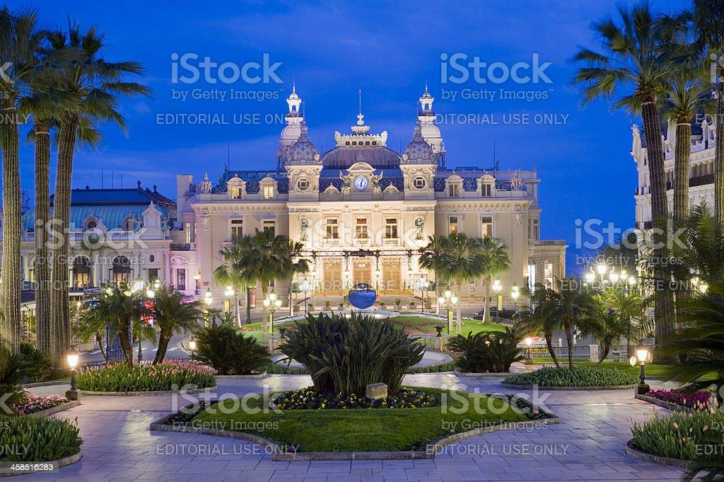 Monte Carlo Casino and the Jardin Exotique in Monaco royalty-free stock photo