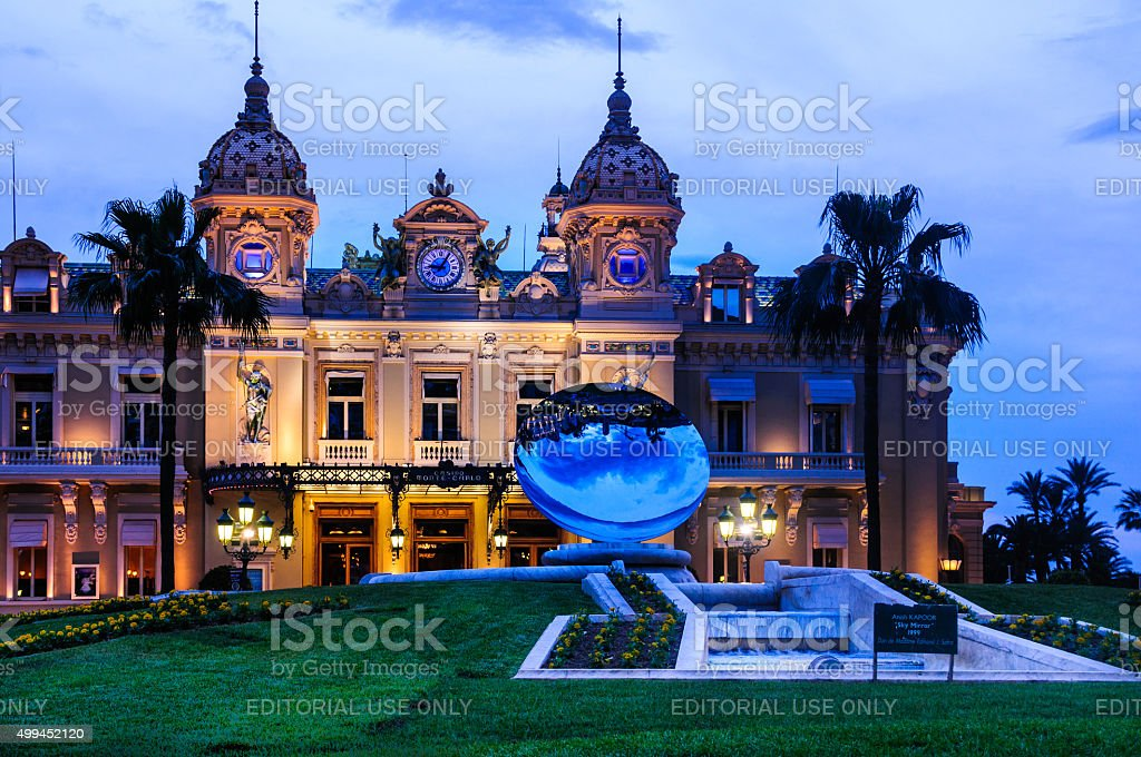 Monte Carlo Casino at Dusk stock photo