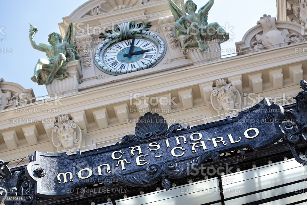 Monte Carlo casino front entrance and canopy royalty-free stock photo