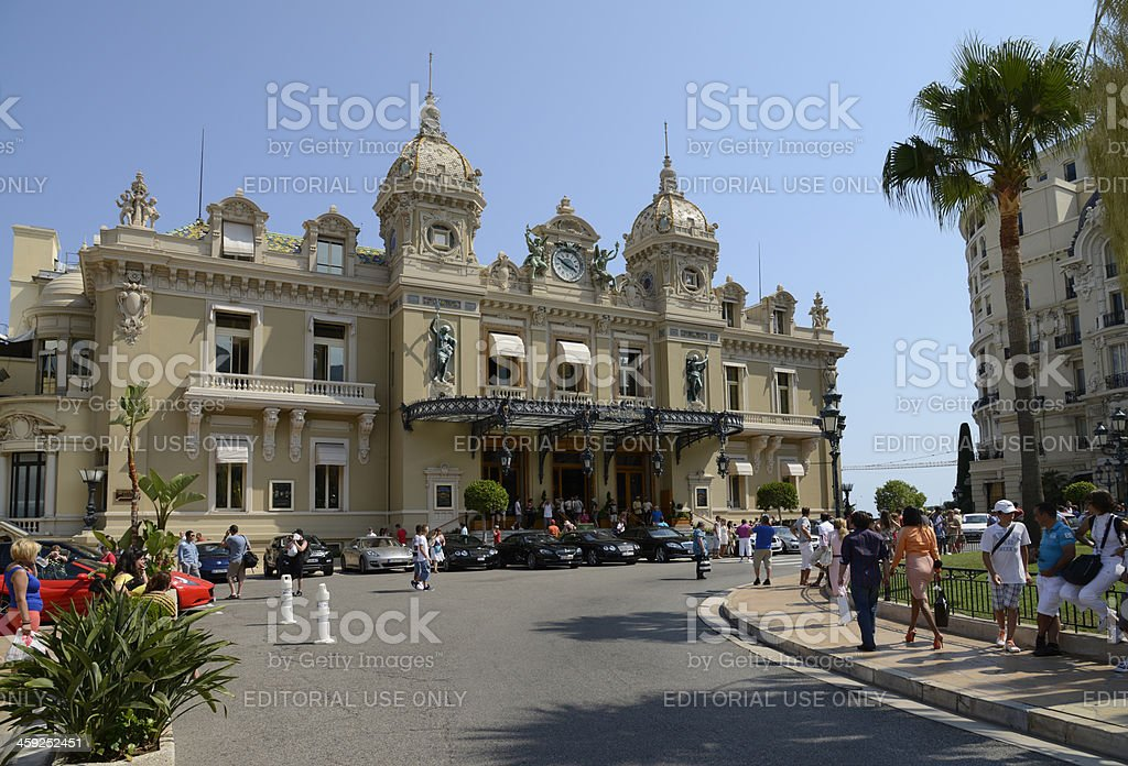 Monte Carlo casino. Monaco royalty-free stock photo