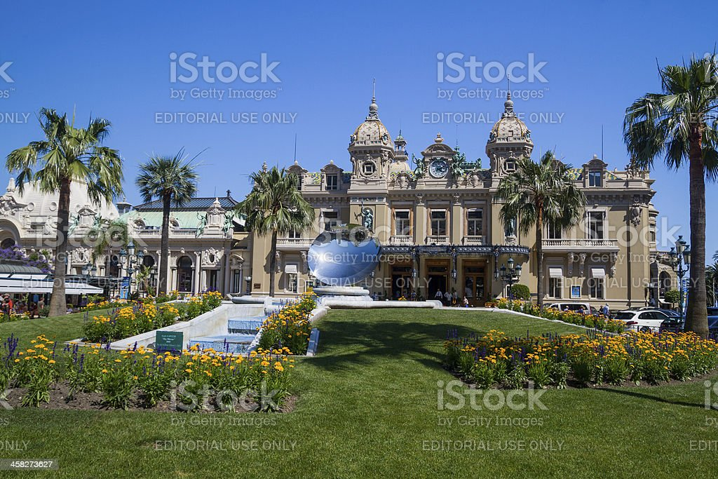 Monte Carlo Casino & Sky Mirror stock photo