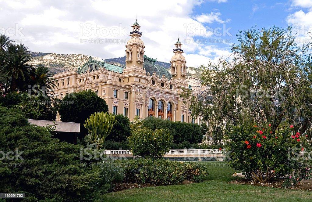 Monte Carlo Grand Casino stock photo