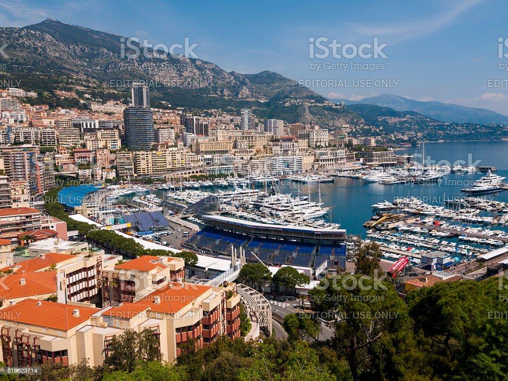Monte Carlo Harbor in Monaco stock photo