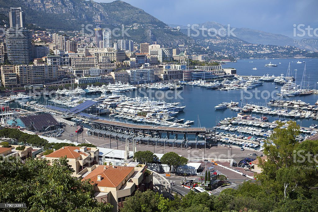 Monte Carlo Harbour in Monaco royalty-free stock photo