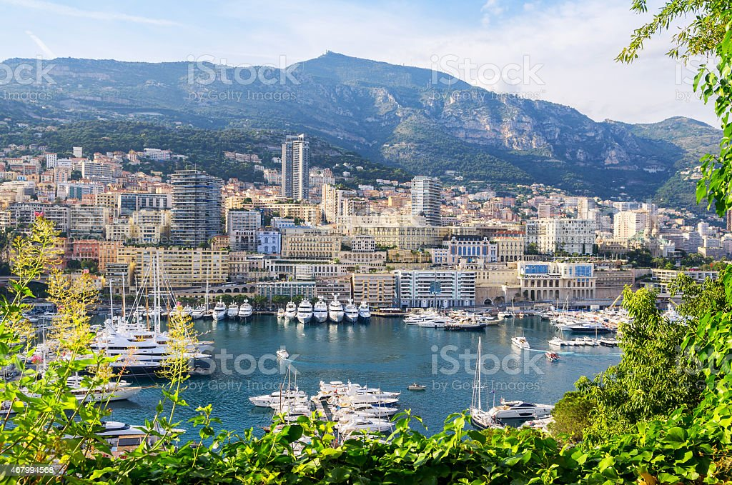 Monte Carlo harbour. Principality of Monaco stock photo