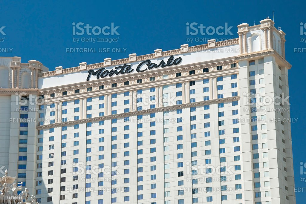 Monte Carlo Hotel on the Las Vegas Strip royalty-free stock photo